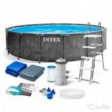 კარკასული აუზი INTEX GREYWOOD PRISM 26742 (457x122სმ)
