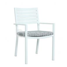 სკამი Mayfair Dining Chair With Cushion matte white