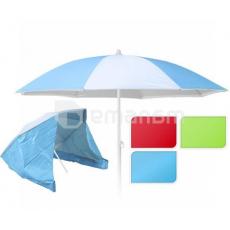 ქოლგა პლაჟის გვერდითი პანელით 150x190სმ