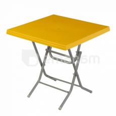 მაგიდა გასაშლელი LADIN Yellow 75x75