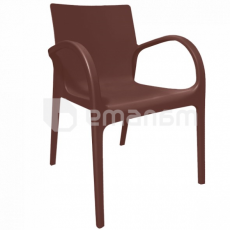 ALEANA სკამი მუქი ყავისფერი