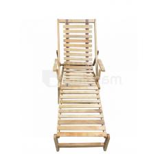 სკამი-შეზლონგი 180X50 სმ წიფელა