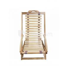 სკამი-შეზლონგი 125X55 სმ წიფელა
