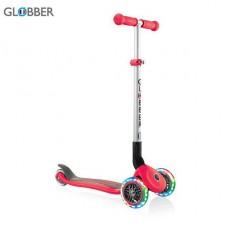 სკუტერი GLOBBER PRIMO FOLDABLE LIGHTS NEW RED 432-102
