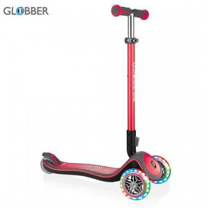 სკუტერი GLOBBER ELITE DELUXE LIGHTS  NEW RED 444-402